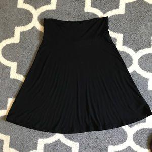 GAP Full cotton drop waisted roll over skirt